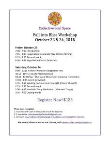 Fall into Bliss Workshop 2015